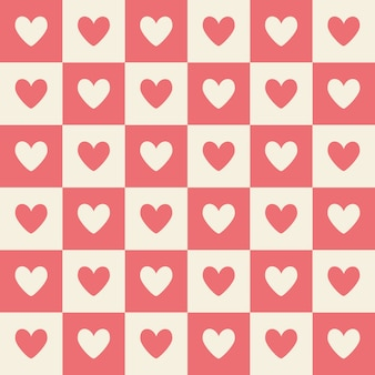 Valentine powtórz serce miękkie tło