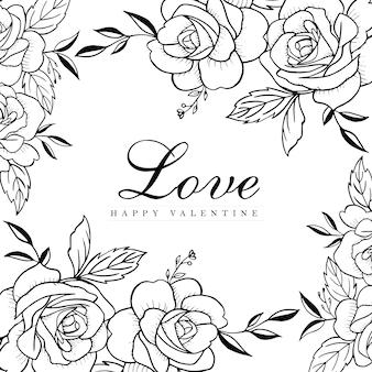 Valentine ręcznie rysowane tło