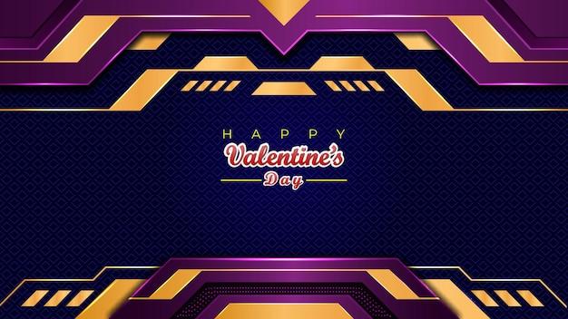 Valentine's day banner design karty sprzedaży oferta czerwony kolor tła