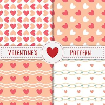 Valentine's heart bez szwu deseń