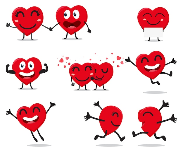 Valentine serca postać z kreskówki