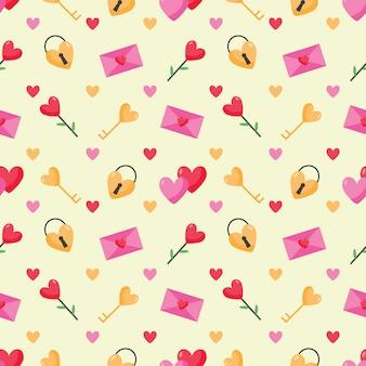 Valentine śliczny bezszwowy wzór