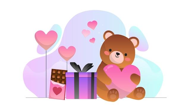 Valentine teddy bear present