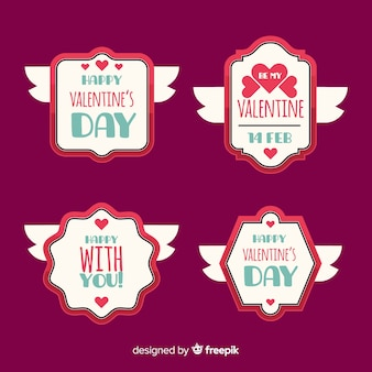 Valentine winged pakiet etykiet