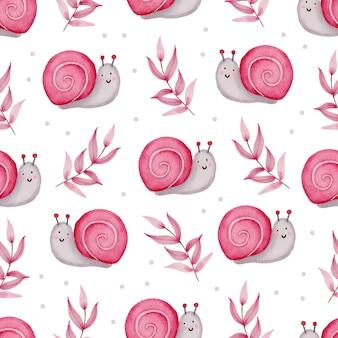 Valentine wzór z ślimakiem, gałęzie.
