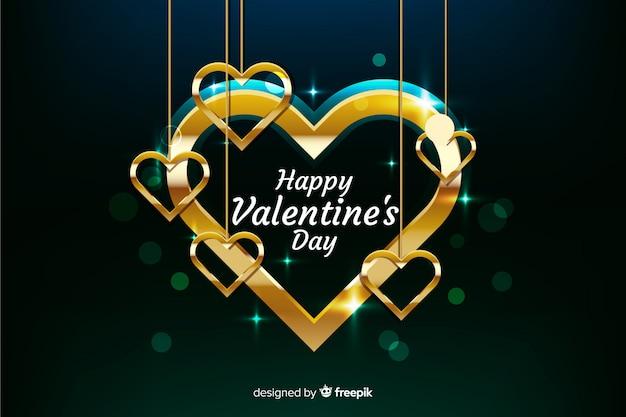 Valentine złote tło