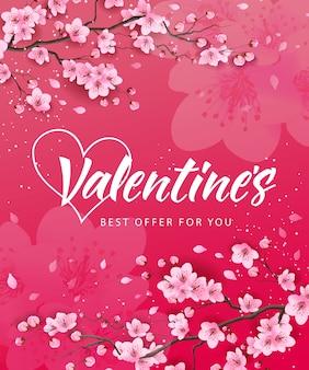 Valentines najlepsza oferta napis