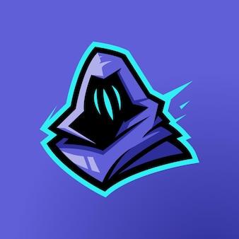 Valorant gaming charakter maskotka projekt omen maskotka projekt logo wektor ilustracja