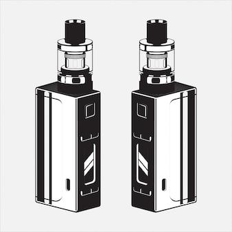 Vape electric cigar illustration