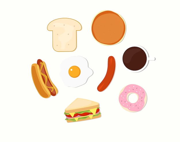 Vector illustratio śniadanie
