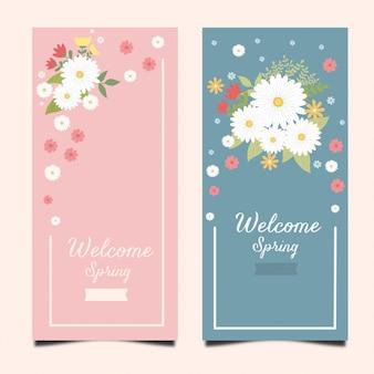 Vector illustration broszura projekt kwiatowy wiosna makiety
