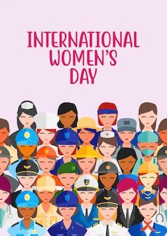 Vector ilustration womens profession job girl power