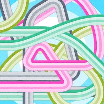 Vector modern disco grunge background z zakrzywionymi liniami