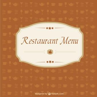 Vector obraz menu restauracji
