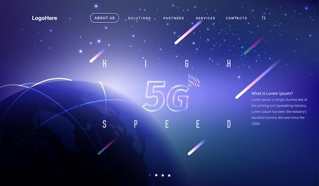 Vector space backgroundpageszablon strony internetowej dla start-upu firmy lub firmy technologicznej