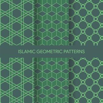 Vibrant islamska seamless patterns kolekcja tekstury