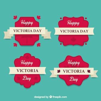 Victoria dzień lable kolekcja z wstążkami