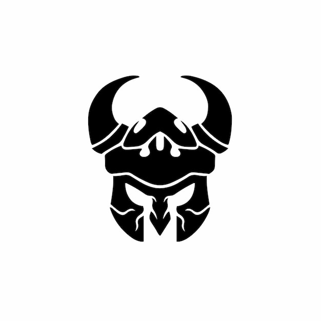 Viking logo tattoo design wzornik ilustracji wektorowych