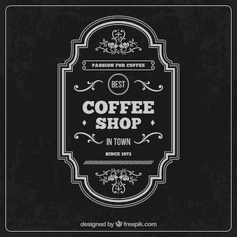 Vintag kawiarnia etykiety
