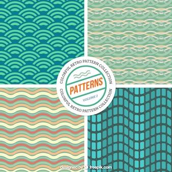 Vintage abstrakcyjne kształty wzory