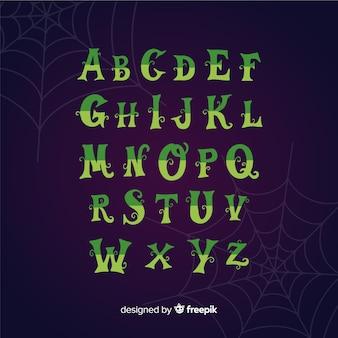 Vintage alfabet halloween