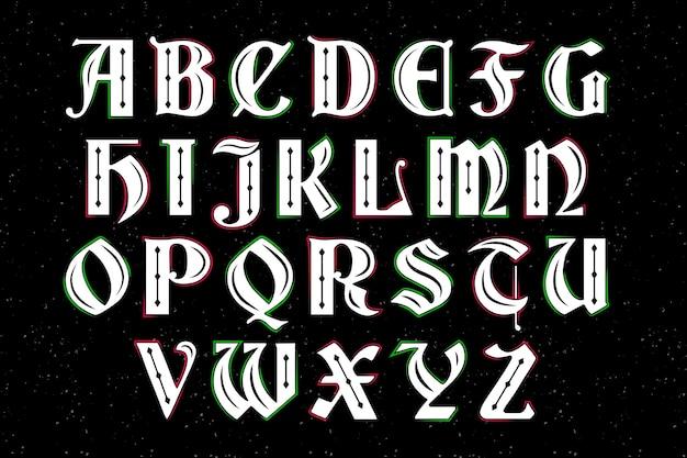 Vintage alfabet świąteczny