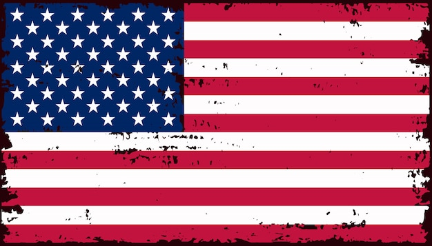 Vintage amerykańską flagę
