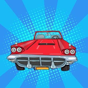 Vintage amerykański samochód pop art