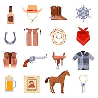 Vintage amerykański stary zachodnich wzorów podpisać i grafiki kowboj