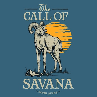 Vintage animal goat badge