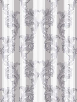 Vintage barokowy wzór tła wektor. handmade ornament dekor tekstury