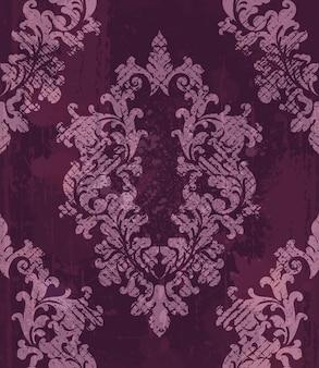 Vintage barokowy wzór tła