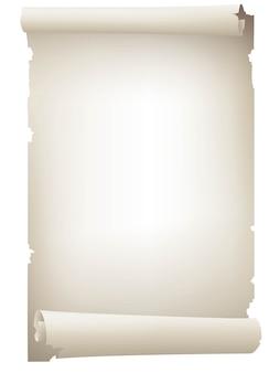 Vintage biały zwój papieru transparent