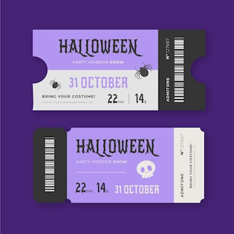 Vintage bilety na halloween