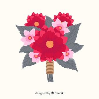 Vintage botaniczny bukiet kwiatów