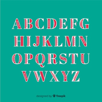 Vintage boże narodzenie zestaw alfabetu