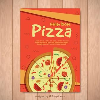 Vintage broszura pizzy