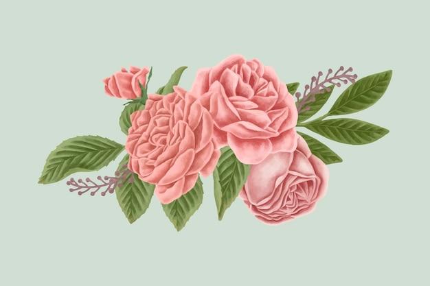 Vintage bukiet kwiatów