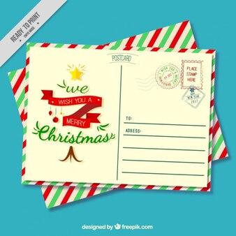 Vintage christmas pocztówka