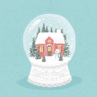Vintage christmas snowball globus