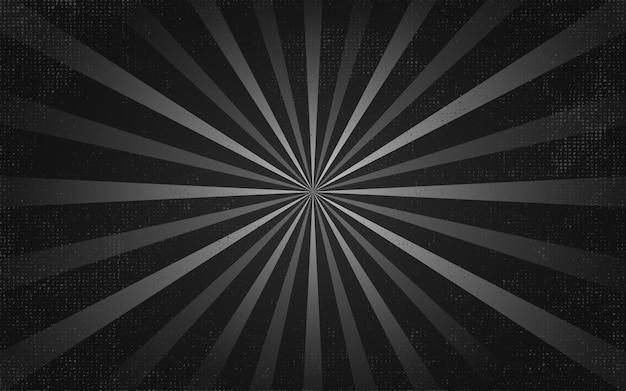 Vintage czarne promienie w tle
