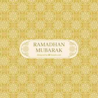 Vintage dekoracyjne ramadan mubarak tle