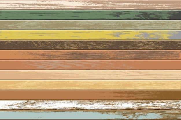 Vintage drewniane tła ze starymi i wyblakłymi kolorami