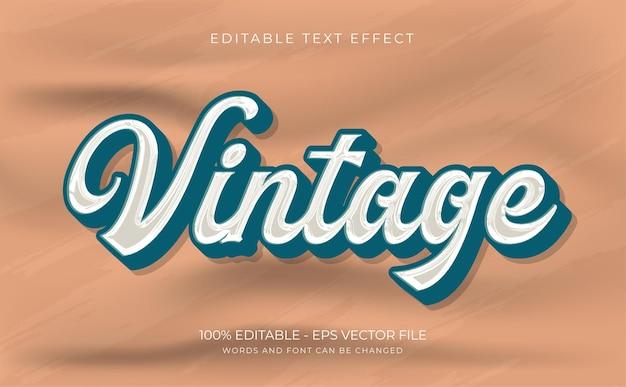 Vintage edytowalny efekt tekstowy premium wektorów