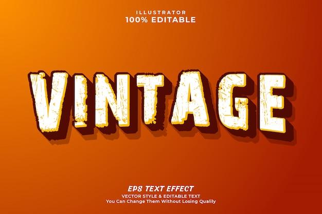 Vintage edytowalny efekt tekstowy, styl tekstu