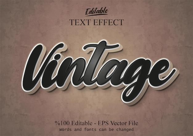 Vintage edytowalny efekt tekstowy wektor eps