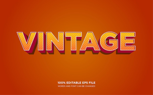 Vintage efekt stylu tekstu 3d