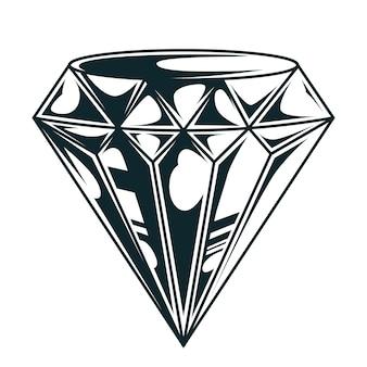 Vintage elegancki diament monochromatyczny koncepcja