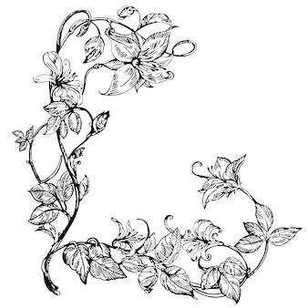 Vintage eleganckie kwiaty.
