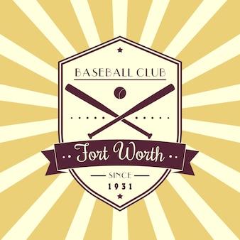Vintage emblemat baseballu, logo, projekt koszulki